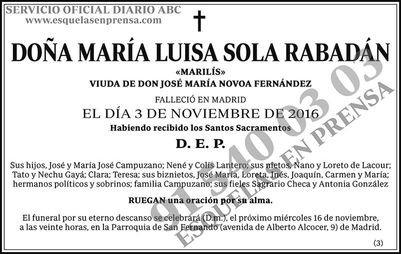 María Luisa Sola Rabadán
